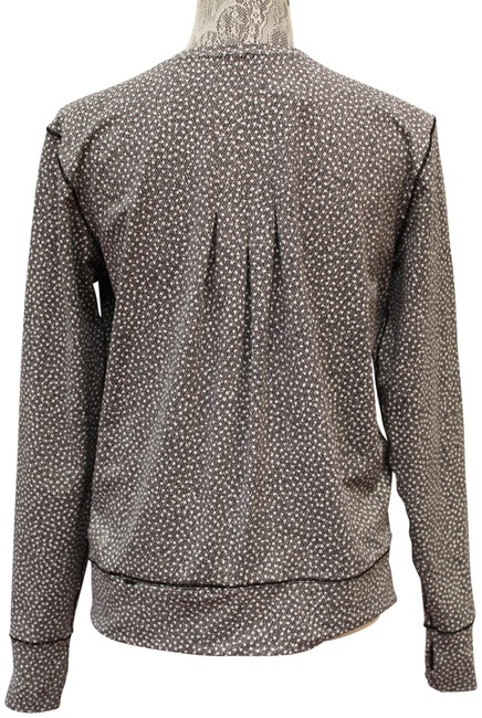 Item - Black/White Pleated Pullover Crew Neck M Activewear Top Size 8 (M)