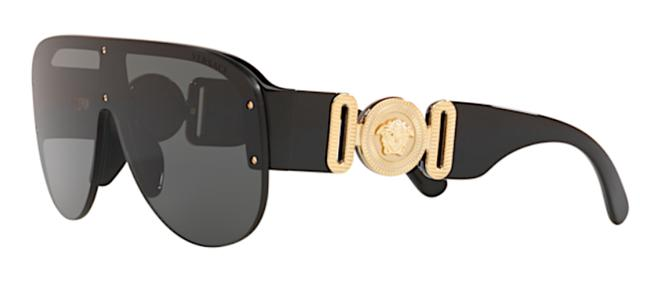 Item - Black New Large Shield Ve 4384f Gb187 Free 3 Day Shipping with All Packaging Sunglasses
