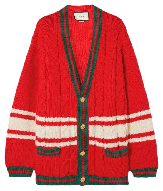 Item - Marmont Chateau Cardigan Red Green Sweater