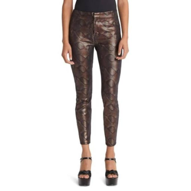 Item - Brown The Looker Snake High Waist Seamless Ankle Pants Size 0 (XS, 25)