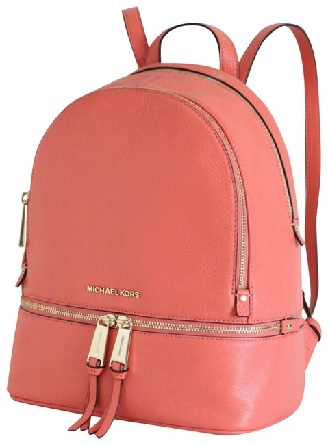 Item - Rhea Zip Medium School Travel (New with Tags) Pink Grapefruit/Gold Hardware Leather Backpack