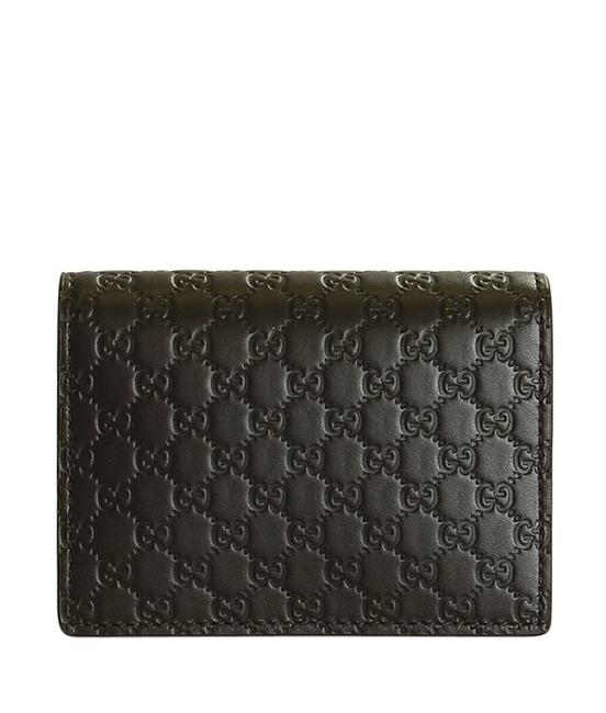 Item - Brown Vintae Microguccissima Leather Card Holder (197937) Wallet