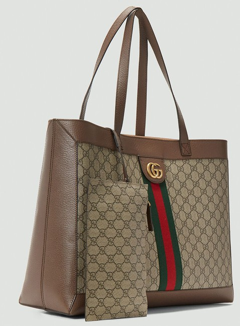Gucci Top Handle Bag Ophidia Large Gg Supreme Zip Pouch Beige Brown Canvas Leather Tote Gucci Top Handle Bag Ophidia Large Gg Supreme Zip Pouch Beige Brown Canvas Leather Tote Image 9