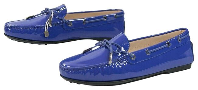 Item - Purple Gomma Lu Laccetto Patent Leather Moccasins Driver Loafer Flats Size EU 39.5 (Approx. US 9.5) Regular (M, B)