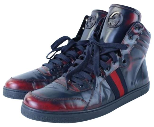 Item - Blue Coda Burnished Midnight and Red High Top Mens Sneakers Size US 8 Regular (M, B)
