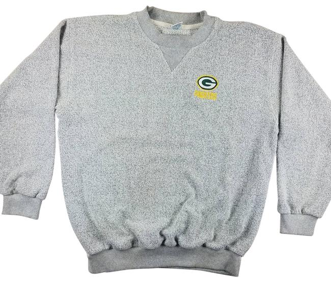 Item - Gray Vtg 90s Green Bay Packers Embroidered Sweatshirt/Hoodie Size 18 (XL, Plus 0x)