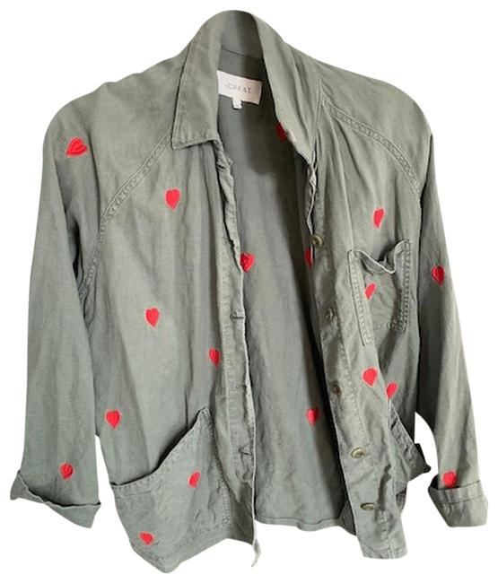 Item - Green / Red Hearts Jacket Size 6 (S)