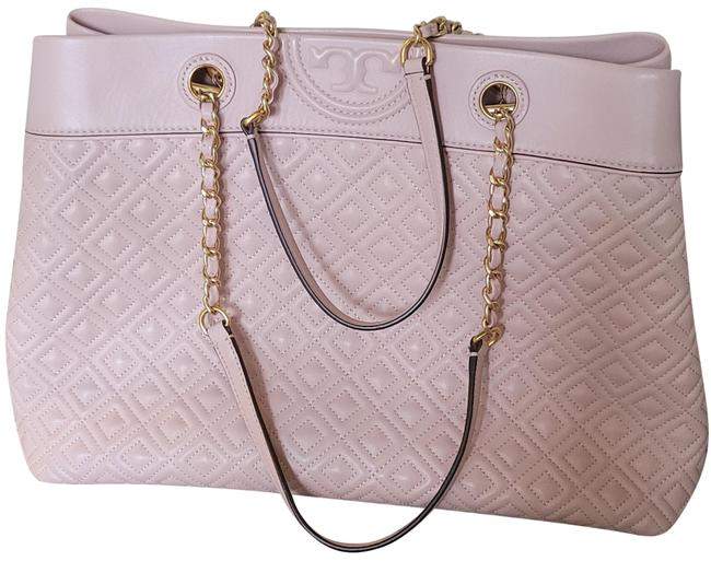Item - Fleming Peach Pink Leather Tote