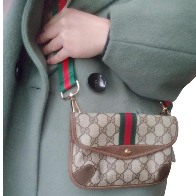 Item - Clutch Vintage Vtg Gg Monogram Supreme Sherry Web Neo Ophidia Fanny Brown Leather Coated Canvas Cross Body Bag