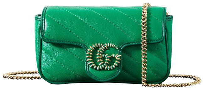 Item - Marmont Gg Green Quilted Leather Shoulder Bag