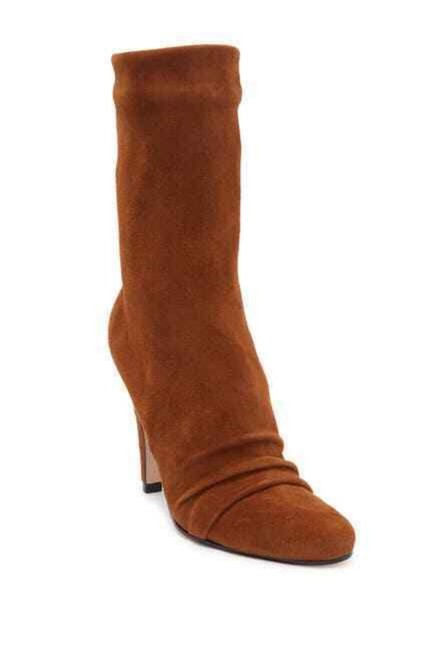 Item - Brown Alicie Suede Leather Mid Calf Boots/Booties Size US 9.5 Regular (M, B)