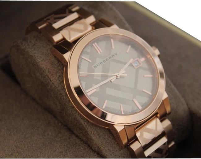 Item - Rose Gold Checkered Watch