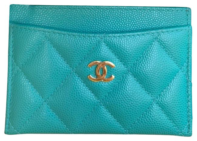 Item - Turquoise Caviar Card Holder Wallet