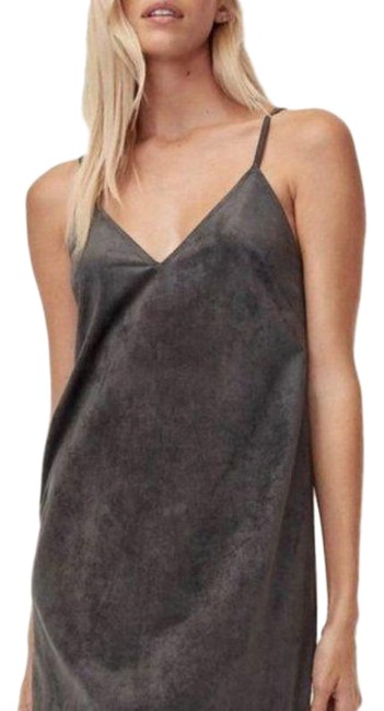 Item - Gray Vivienne Wilfred Free Faux-suede Tank Short Night Out Dress Size 00 (XXS)