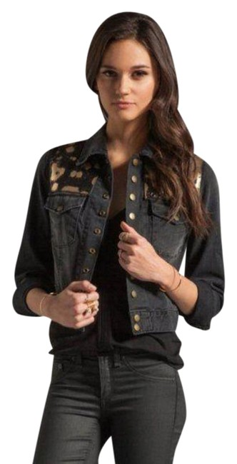 Item - Black Gold The Snap In Metallic - In Night Spotted Metallic Jacket Size 0 (XS)