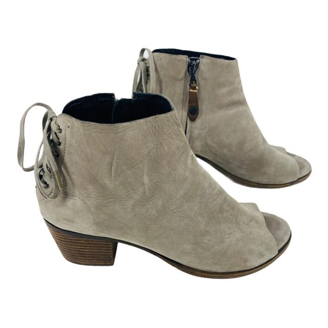 Item - Gray Suede Lace Back Peep Toe Ankle Boots/Booties Size EU 41 (Approx. US 11) Regular (M, B)