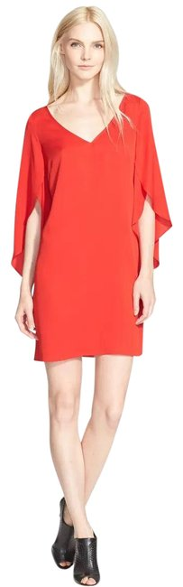 Item - Red Butterfly Sleeve Stretch Silk Short Night Out Dress Size 6 (S)