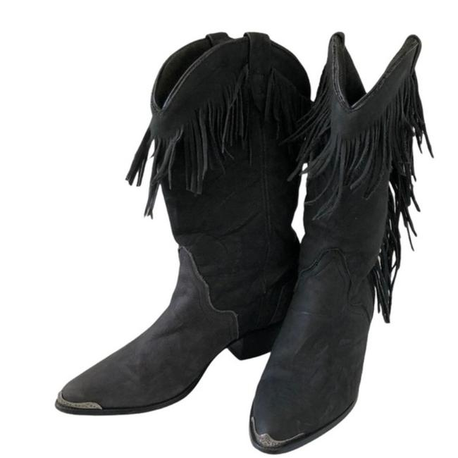 Item - Black Cowgirl Boots/Booties Size US 5 Regular (M, B)