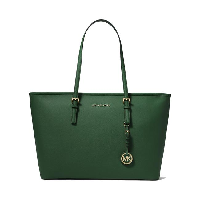 Item - Tote Moss Saffiano Multifunction Travel Green Leather Shoulder Bag