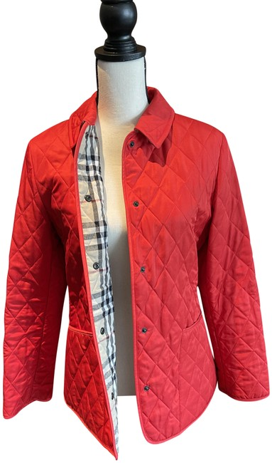 Item - Red Quilted Rain Classic Jacket Size 8 (M)