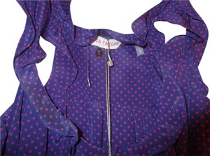 Rebecca Taylor Top Purple and Fuschia