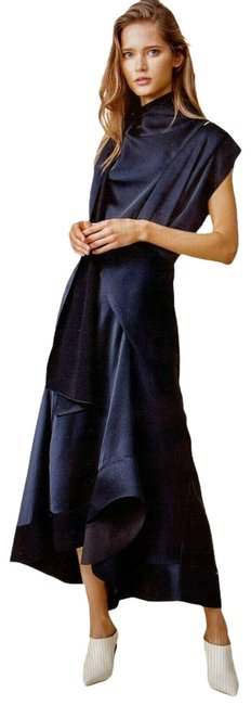 Item - Navy Mid-length Night Out Dress Size 4 (S)