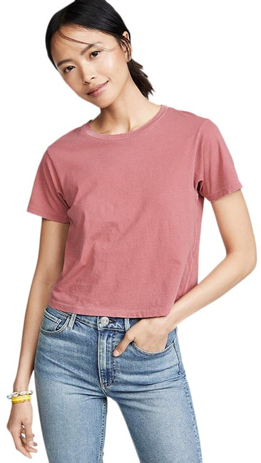 Item - Pink Babe Cropped Cotton Tee Shirt Size 4 (S)