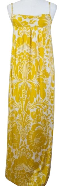 Item - Yellow Floral Maxi Long Night Out Dress Size 2 (XS)