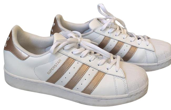 Item - White Rose Gold Superstar And Sneakers Size US 9.5 Regular (M, B)
