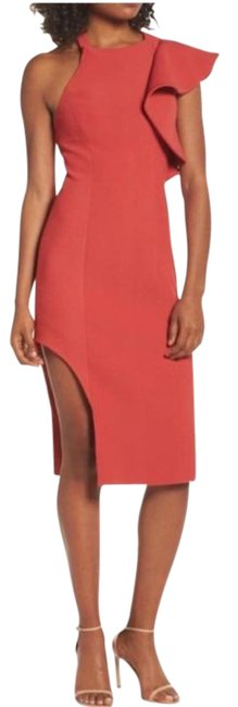 Item - Red Infinite Asymmetrical Mid-length Cocktail Dress Size 4 (S)