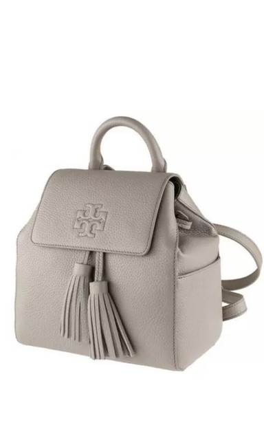 Item - Thea Mini Gray Leather Backpack