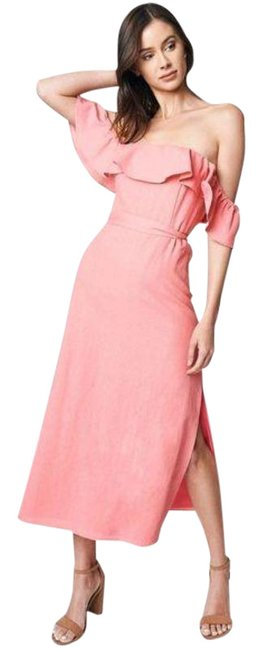 Item - Pink Rosie Off The Shoulder Mid-length Casual Maxi Dress Size 4 (S)