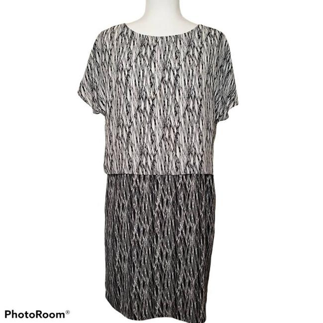 Item - Black Double Layered Work/Office Dress Size 6 (S)