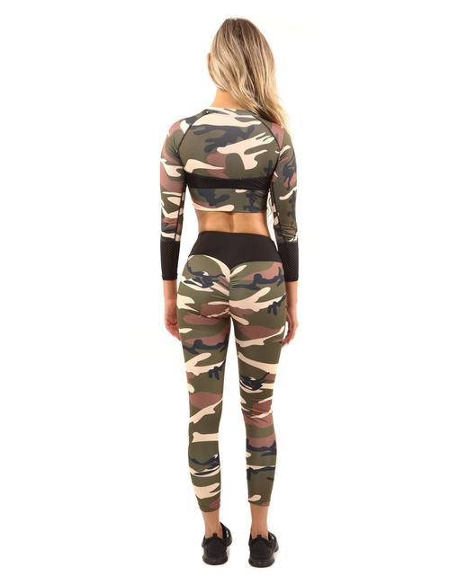 Item - Brown/Green Virginia Camouflage Brown/Green Activewear Bottoms Size 14 (L, 34)