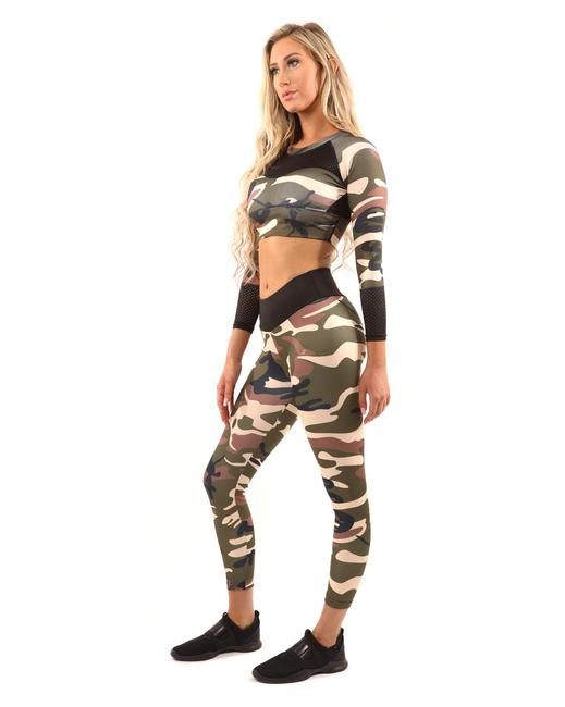 Item - Brown/Green Virginia Camouflage Brown/Green Activewear Bottoms Size 16 (XL, Plus 0x)