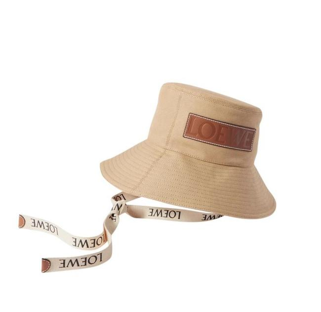 Item - Sand New Paula's Ibiza Leather-trimmed Cotton-canvas Hat