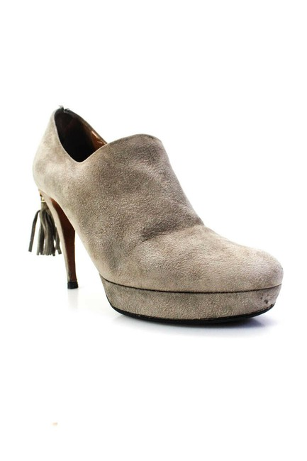Item - Taupe Grey/Bamboo & Fringe Leather Shoes/Boots Boots/Booties Size EU 40 (Approx. US 10) Regular (M, B)