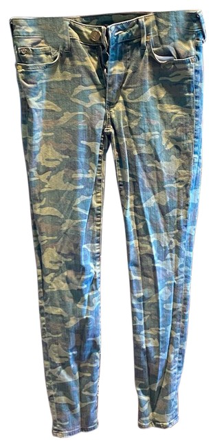 Item - Green Camoflage Skinny Jeans Size 4 (S, 27)