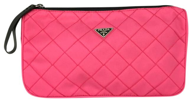 Item - Accessory Pouch Case Ladies Pink Nylon Clutch
