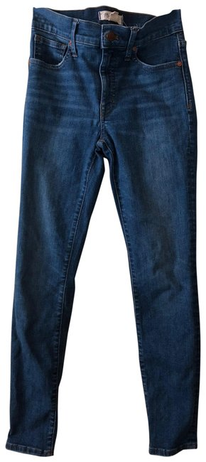 """Item - Medium Wash 9"""" Mid-rise In Pendal Skinny Jeans Size 0 (XS, 25)"""