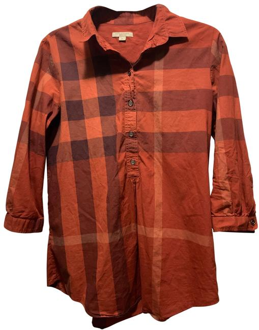 Item - Black and Orange Button Up Button-down Top Size 10 (M)