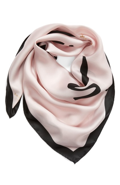 Item - Pink Just Married Square Silk Scarf/Wrap