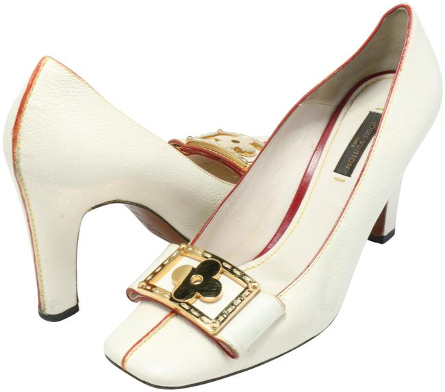 Item - Cream Orsay Leather Bow Square Toe D'orsay Pumps Size EU 37 (Approx. US 7) Regular (M, B)