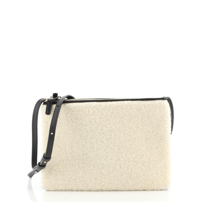 Item - Trio And Large Neutral Leather Shearling Cross Body Bag