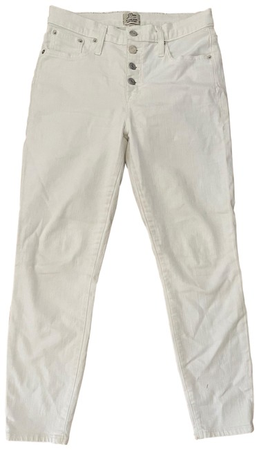 """Item - White 9"""" High Rise Toothpick Skinny Jeans Size 6 (S, 28)"""