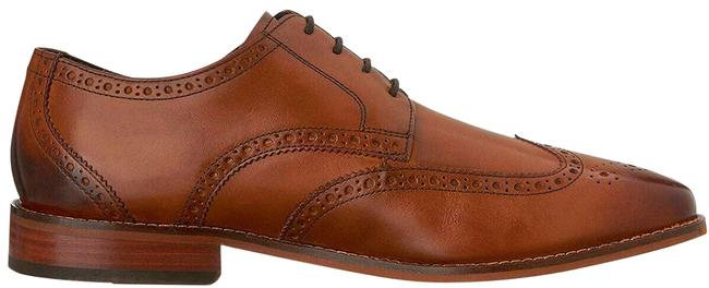 Item - Brown Mens Castellano Wing-tip Oxfords Saddle Tan 3e Formal Shoes Size US 8.5 Extra Wide (Ww, Ee)