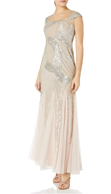 Item - Light Pink Shell Cap Sleeve Beaded Gown Long Formal Dress Size 2 (XS)