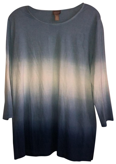 Item - Blue and White Ombré Tunic Size 12 (L)