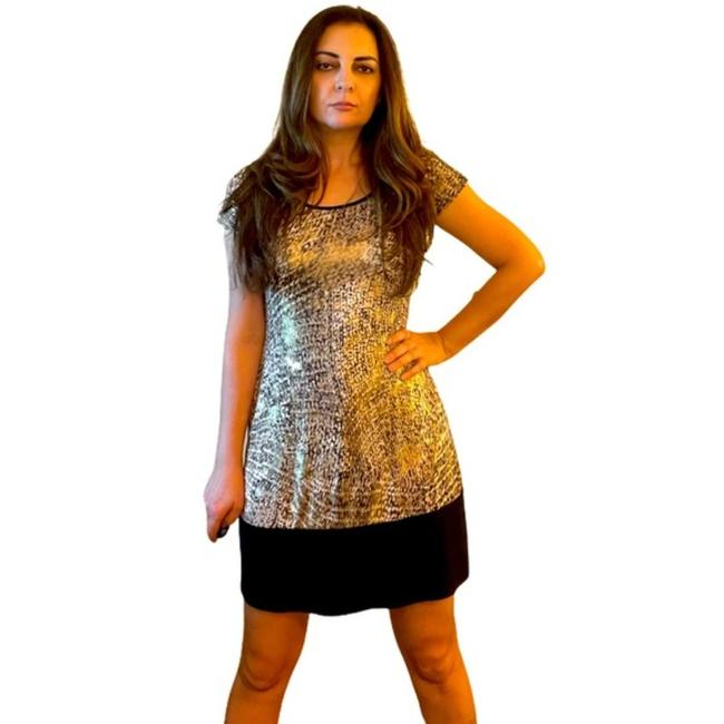 Item - Brown and Gold L Leopard with Mini M/L Short Night Out Dress Size 10 (M)