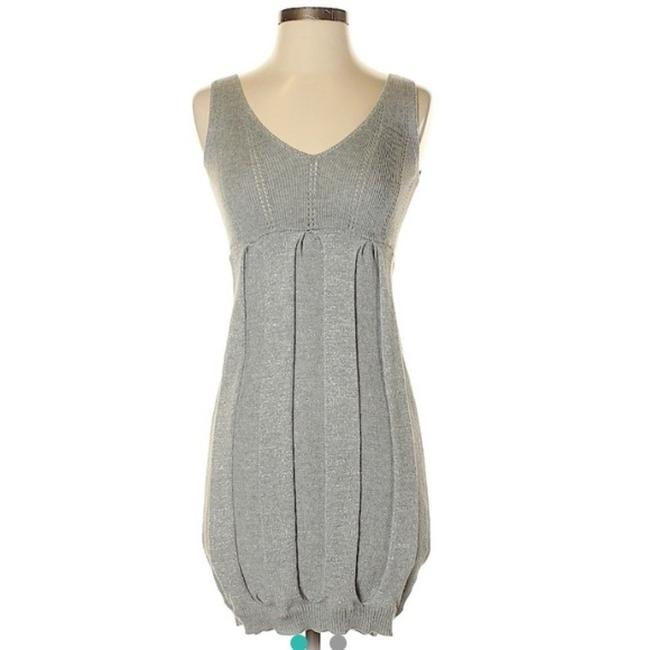 Item - Gray Sweater Mid-length Short Casual Dress Size 4 (S)